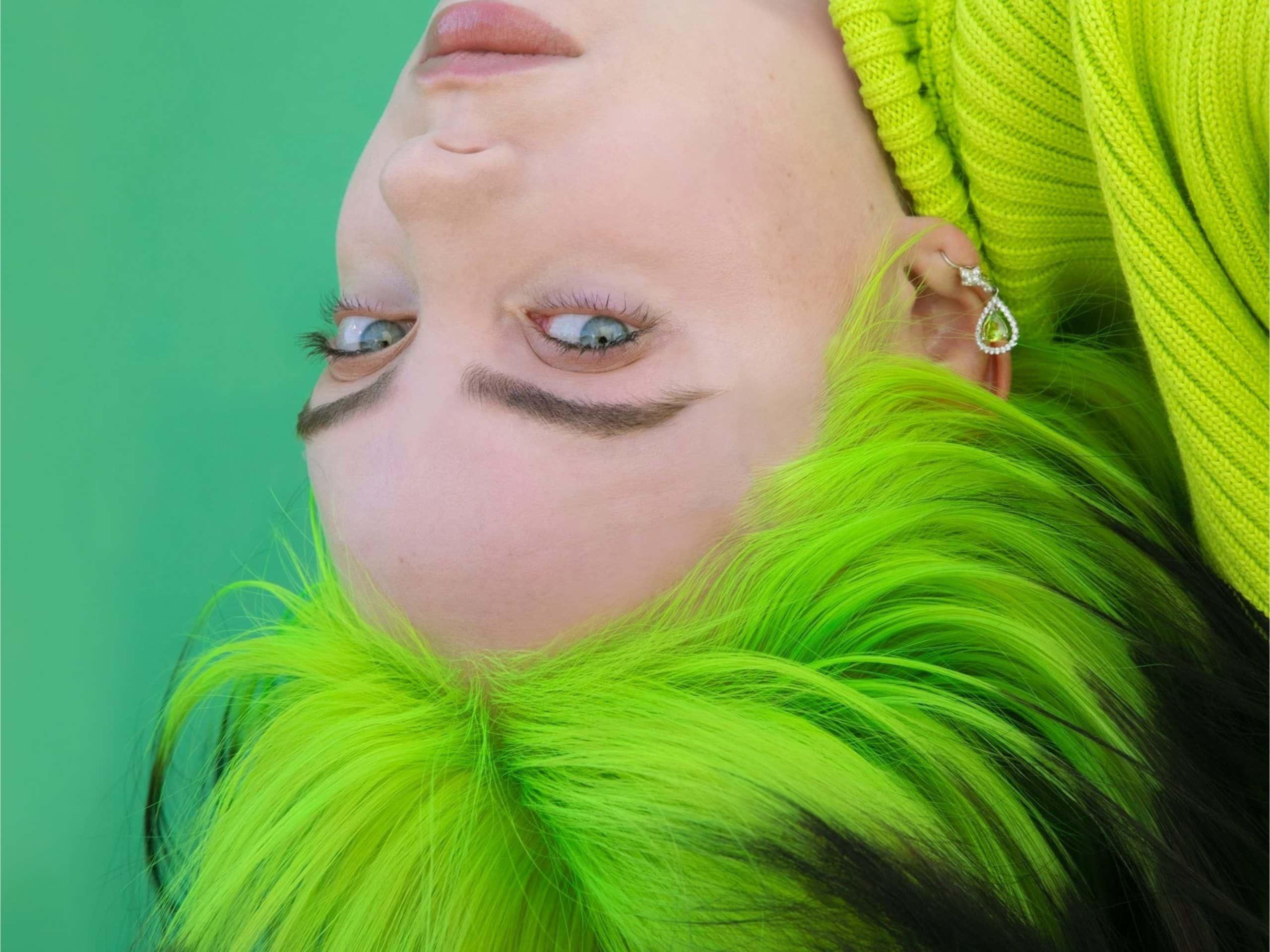 Hair color block Billie Eilish